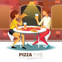 Pizza-Zeit-Illustration vektor