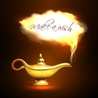 aladdin lampa moln koncept