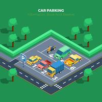 Bilparkerings illustration vektor