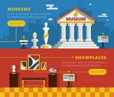 Museumsbanner eingestellt vektor