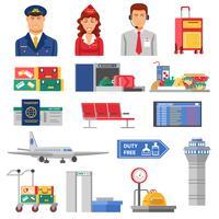 Flughafen-Icon-Set