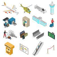 Flughafen Icons Set