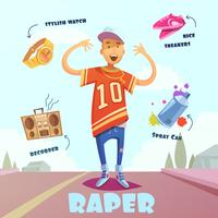 Raper Character Pack für den Menschen vektor