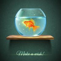 Aquarium auf einem Regal Poster