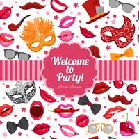 Karnevalsparty-Einladung festliches flaches Plakat