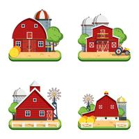 Farm Flat Isolerade Dekorativa Ikoner
