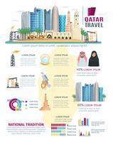 Katar-Infografiken festgelegt vektor