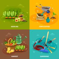 Trädgårdsdesign 2x2 Designkoncept