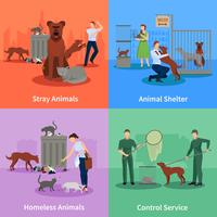 Stray Animals Icon Set
