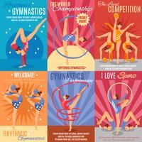 Sammlung von rhythmischen Gymnastik-Plakaten