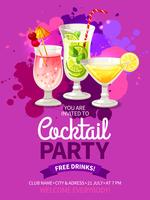 cocktails party flyers