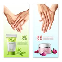 Natural Hand Cream 2 Realistic Banners