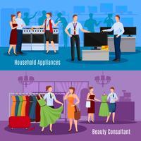 Kommunikation von Verkäufern mit Kundenzusammensetzungen vektor