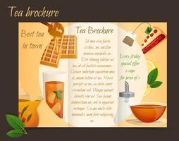 Tea broschyr tri-fold vektor