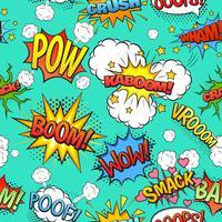 Comic speech bubblar sömlös mönster bakgrund vektor