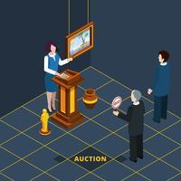 Isometrisk Auktionsprocess Abstrakt vektor