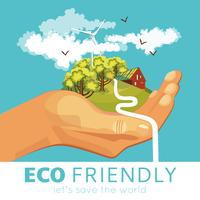 Rettung der Umwelt Poster