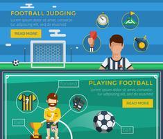 Fotbollsbandsset vektor