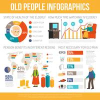 Aging People Life Flat Infographic Banner