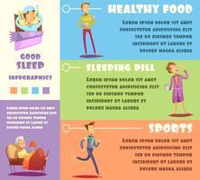 Schlafender Mann Infographik