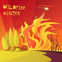 Wildfire-Katastrophen-Illustration
