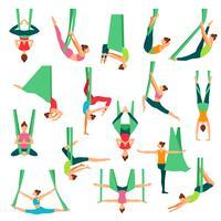 Aero Yoga Dekorativa ikoner Set