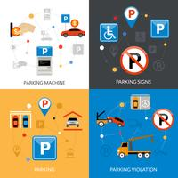 Parkerings ikoner vektor