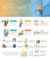 Infografik-Bergsteiger-Illustration vektor