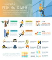 infographic climber illustration vektor