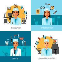 Medicinsk arbetare koncept uppsättning