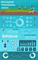 Infographik Menschen Sport vektor