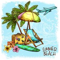 sommar strand koncept