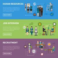 Rekrytering HR Människor Horisontell Banderoller