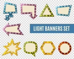 Licht Banner Transparent Set vektor