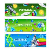 Vetenskaplig laboratorieutrustning Horisontell banderoller