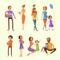 Familien-Cartoon-Set