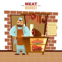 Metzger-Karikatur-Illustration vektor