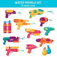 Wasserpistolen eingestellt vektor