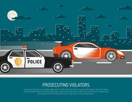 Straßenrennenverletzungs-Szenen-flaches Plakat