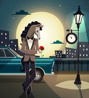 Hipster-romantisches Tier