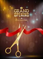 Grand Opening Background Illustration