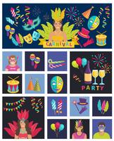 Karneval-Symbol flach
