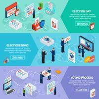 Wahlen und Abstimmungen isometrische Banner