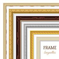 Rahmen Baguettes Set vektor
