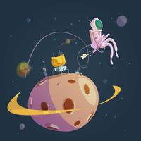 Weltraum-Cartoon-Hintergrund