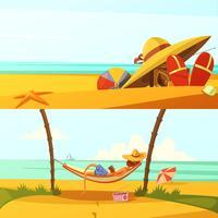 Sommerferien-Banner eingestellt vektor