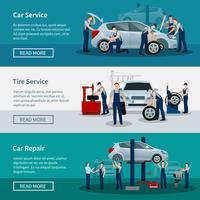 Horizontale Banner des Autoservices