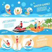 Vattensport Banners Set
