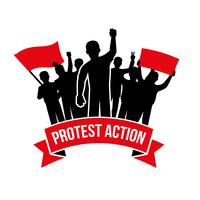Protestaktion Emblem