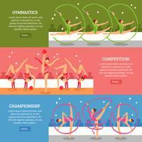 Konst Gymnastik Horisontella Banderoller